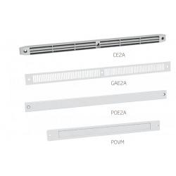 Grilles de façade et plaques d obturation à associer avec les entrées d air ISOLA et M-G